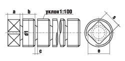 DIN 907 Пробка с внутренним квадратом