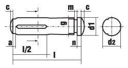 DIN 1469 Штифт с насечкой