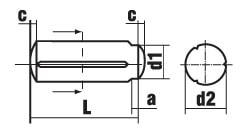 DIN 1470 Штифт цилиндрический насеченный