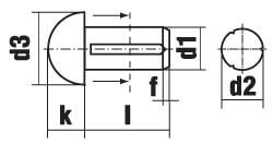 DIN 1476 Штифт насеченный с полукруглой головкой