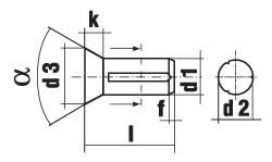 DIN 1477 Штифт насеченный с потайной головкой
