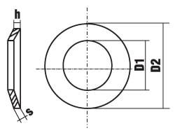 DIN 2093 Пружина тарельчатая