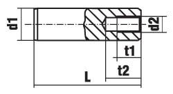 DIN 7979 Штифт цилиндрический с внутренней резьбой