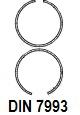 DIN 7993 Кольцо стопорное из круглой проволоки