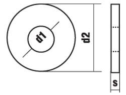 DIN 9021 Шайба увеличенная (усиленная)