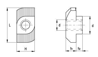 Гайка шинная Т-образная