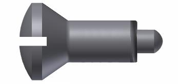 DIN 924 Винт с полупотайной головкой с прямым шлицем и цилиндрическим концом