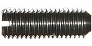 DIN 438 Винт установочный с прямым шлицем и засверленным концом