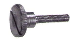 DIN 465 Винт с накатанной высокой головкой и прямым шлицем