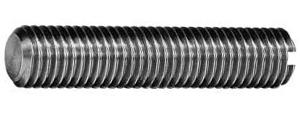 DIN 551 Винт установочный с прямым шлицем и плоским концом