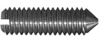 DIN 553 Винт установочный с прямым шлицем и конусным концом