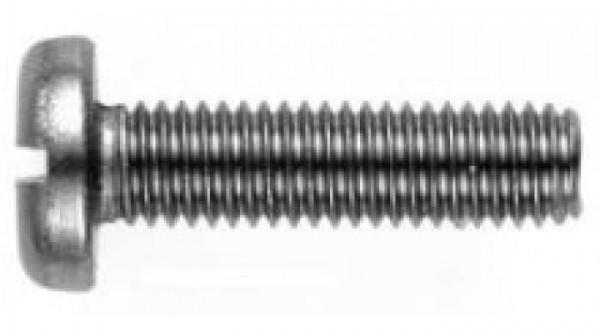 DIN 85 Винт с полукруглой головкой и прямым шлицем