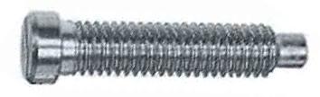 DIN 922 Винт с уменьшенной цилиндрической головкой c прямым шлицем и цилиндрическим концом