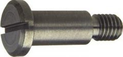 DIN 923 Винт с низкой цилиндрической головкой c прямым шлицем и резьбовой цапфой