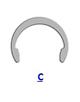 Кольцо стопорное C эксцентрическое радиальное наружное (дюймовое)