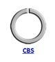 DIN 5417 (CBS) Кольцо стопорное концентрическое осевое плоское наружное