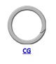 Кольцо стопорное CG спиральное осевое наружное (дюймовое)
