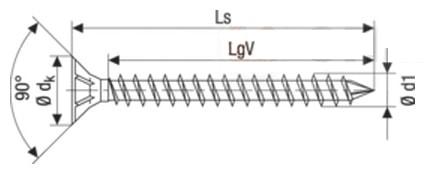 Саморез Spax конструкционный для дерева, с потайной головкой и зенкующими ребрами, щлиц Torx