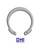 Кольцо стопорное DHI (JV) эксентрическое осевое внутреннее
