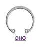 DIN 472 (DHO) Кольцо стопорное эксцентрическое осевое пружинное, упорное, внутреннее для отверстия
