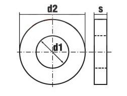 DIN 7349 A B Шайба плоская под тяжелые втулки (используется с Din 1481)