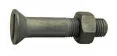 DIN 7969 / MU Болт с потайной головкой и прямым шлицем, с гайкой