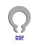 Кольцо стопорное DSF самостопорящееся без канавки осевое наружное