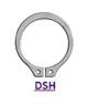 DIN 471 (DSH) Кольцо стопорное эксцентрическое, осевое, наружное, пружинное, упорное, для вала