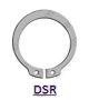 DIN 471 (DSR) Кольцо стопорное тяжелое исполнение эксцентрическое осевое наружное