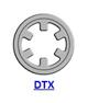 Кольцо стопорное DTX самостопорящееся без канавки осевое наружное