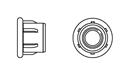 Гайка с фланцем и боковыми ребрами