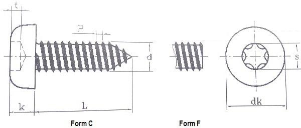 ISO 14585 Саморез по тонким листам металла Torx