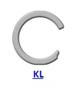 Кольцо стопорное KL спиральное осевое внутреннее (дюймовое)