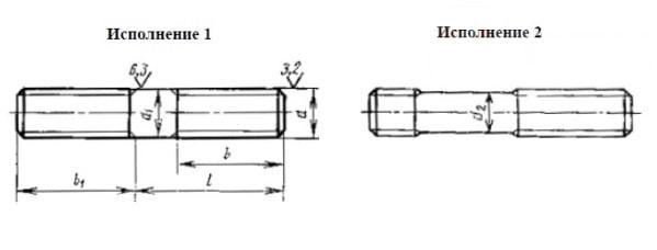 ГОСТ 22041-76 шпилька с ввинчиваемым концом