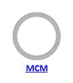 Кольцо стопорное MCM спиральное осевое наружное