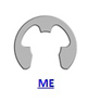 Кольцо стопорное ME эксентрическое радиальное наружное