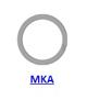 Кольцо стопорное MKA спиральное осевое внутреннее