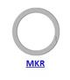 Кольцо стопорное MKR спиральное осевое внутреннее