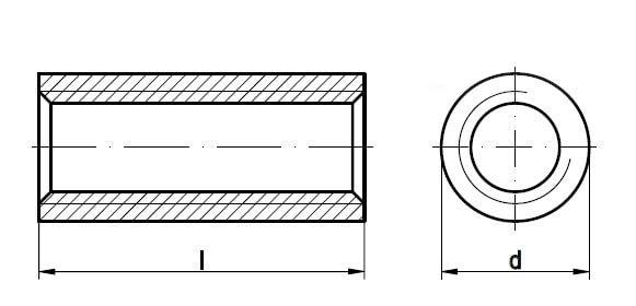 Гайка круглая 1,5d с трапецеидальной резьбой