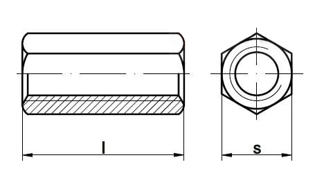 Гайка шестигранная 1.5d с трапецеидальной резьбой