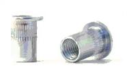 Заклепка-гайка BRALO с цилиндрическим бортиком, рифленая