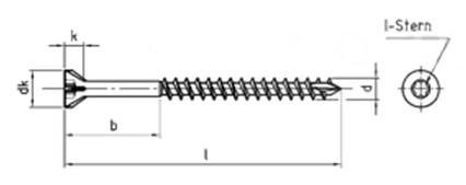 Саморез для деревянных полов, с потайной головкой и зенкующими ребрами, шлиц Torx
