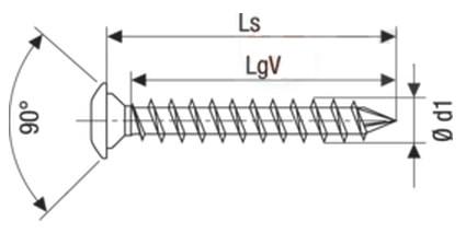 Саморез Spax для деревянных стоек, с низкой полукруглой головкой, щлиц Torx T10