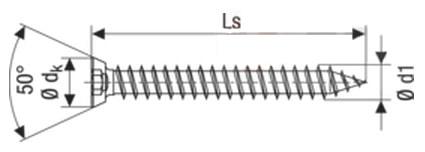 Саморез-анкер Spax-RA для крепдения металло-пластиковых окон, с потайной головкой 11 мм, шлиц Torx T-30
