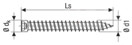 Саморез-анкер Spax-RA для крепления деревянных оконных рам, с цилиндрической головкой 7,5 мм, шлиц Torx T-25