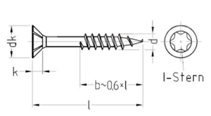 Саморез универсальный, с потайной головкой и зенкующими ребрами, шлиц Torx, неполная резьба
