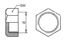 Заглушка сантехническая с дюймовой трубной резьбой
