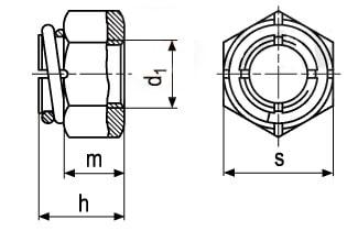 Гайка шестигранная самоконтрящаяся цельнометаллическая двухэлементная Vargal