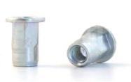 Заклепка-гайка BRALO шестигранная на 1/2 длины, с цилиндрическим бортиком
