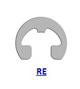 Кольцо стопорное RE эксцентрическое радиальное наружное (дюймовое)